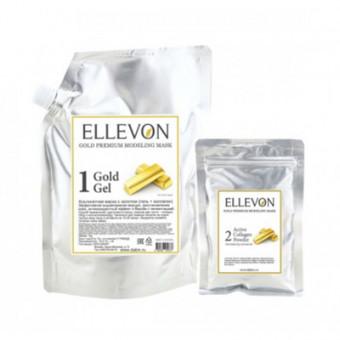Премиум альгинатная маска с золотом ELLEVON GOLD PREMIUM MODELING MASK